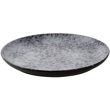 Plate Palmer Rocks 26.5cm Grey Black Porcelain 1 piece(s)