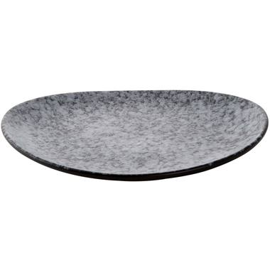 Plate Palmer Rocks 25.5 x 23 x Grey Black Porcelain 1 piece(s)